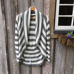 Express | Striped Cardigan Cocoon Sweater Sz M